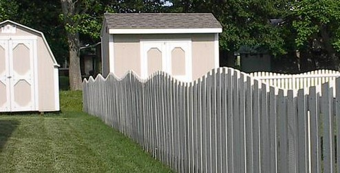 Picket Style Wood Fence